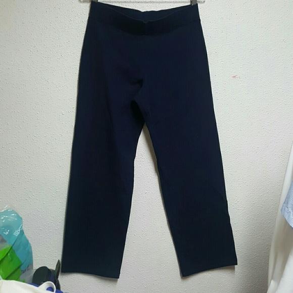 d1658b7adea43f Talbots Pants | Womens Navy Blue Petite Sweat | Poshmark
